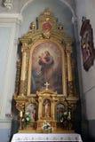 Bambino Gesù della tenuta di Saint Joseph Fotografie Stock