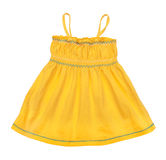 Bambino giallo intelligente della maglietta giro collo Fotografia Stock