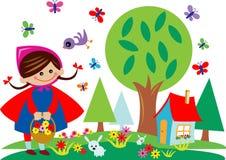 Bambino in giardino illustrazione vettoriale