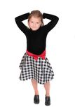 Bambino in giovane età nel nero fotografia stock libera da diritti