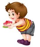 Bambino grasso Immagine Stock