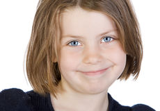 Bambino grazioso con i grandi occhi azzurri fotografia stock