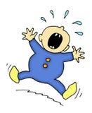 Bambino gridante illustrazione vettoriale