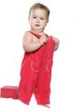 Bambino gridante isolato sopra bianco Immagine Stock Libera da Diritti