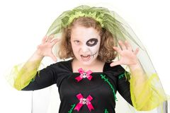 Bambino in Halloween fotografie stock
