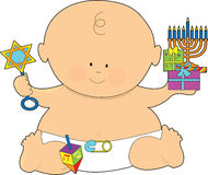 Bambino Hanukkah Fotografia Stock