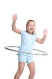 Bambino hooping di hula Fotografia Stock Libera da Diritti