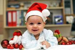Bambino il Babbo Natale Fotografie Stock Libere da Diritti
