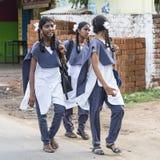 Bambino indiano bello pronto ad andare a scuola Immagini Stock Libere da Diritti