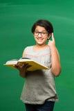 Bambino indiano che studia l'aula Fotografia Stock Libera da Diritti