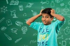 Bambino indiano nell'aula Fotografia Stock Libera da Diritti