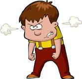Bambino infuriato Fotografie Stock Libere da Diritti