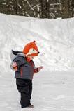 Bambino in inverno Immagini Stock