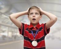 Bambino - istruttore Fotografia Stock