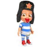 Bambino Jake con l'illustrazione russa del cappello di pelliccia 3d Fotografie Stock Libere da Diritti