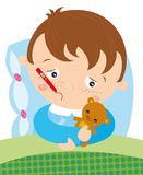 Bambino malato Immagine Stock