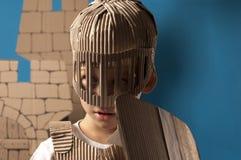 Bambino medievale del cavaliere Immagini Stock