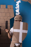 Bambino medievale del cavaliere Fotografia Stock