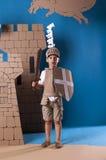 Bambino medievale del cavaliere Fotografie Stock