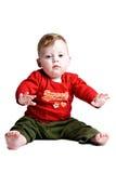 Bambino mezzo di anno Immagini Stock Libere da Diritti