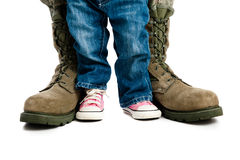 Bambino militare Fotografie Stock Libere da Diritti