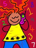 Bambino mobile illustrazione vettoriale