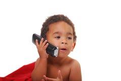 Bambino Multi-racial spostato in una coperta Fotografia Stock Libera da Diritti