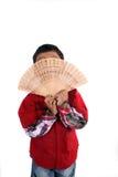 Bambino nascondentesi Fotografia Stock