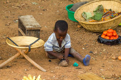 Bambino nel Burundi Fotografia Stock