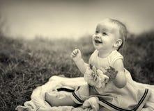 Bambino nel lago Fotografia Stock