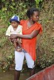 Bambino nel Madagascar Fotografie Stock