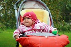 Bambino nel passeggiatore Fotografia Stock