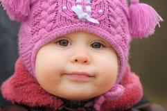 Bambino nell'intestazione Immagini Stock