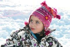Bambino nella neve Immagini Stock Libere da Diritti