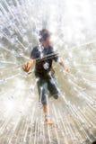 Bambino nella palla di Zorbing Fotografie Stock