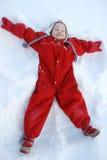Bambino nella sorgente Fotografia Stock