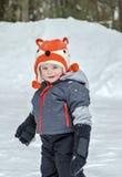 Bambino in neve Fotografie Stock