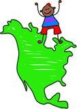 Bambino nordamericano royalty illustrazione gratis