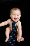 Bambino nudo in legame immagini stock