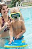 Bambino in occhiali di protezione Fotografie Stock Libere da Diritti