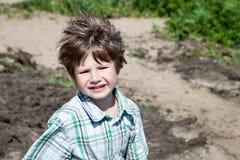 bambino offensivo Fotografia Stock