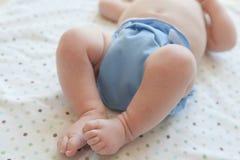 Bambino in pannolino del panno Fotografia Stock Libera da Diritti