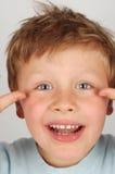 Bambino pazzesco Fotografie Stock Libere da Diritti