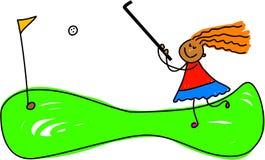 Bambino pazzesco di golf illustrazione vettoriale