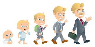 Bambino per equipaggiare evoluzione royalty illustrazione gratis