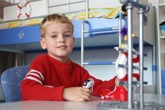 Bambino in playroom Fotografia Stock