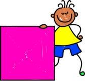 Bambino quadrato Immagine Stock