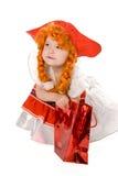 Bambino rosso della protezione immagine stock