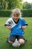 Bambino sciocco di calcio Fotografia Stock Libera da Diritti