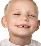 Bambino senza denti Fotografie Stock